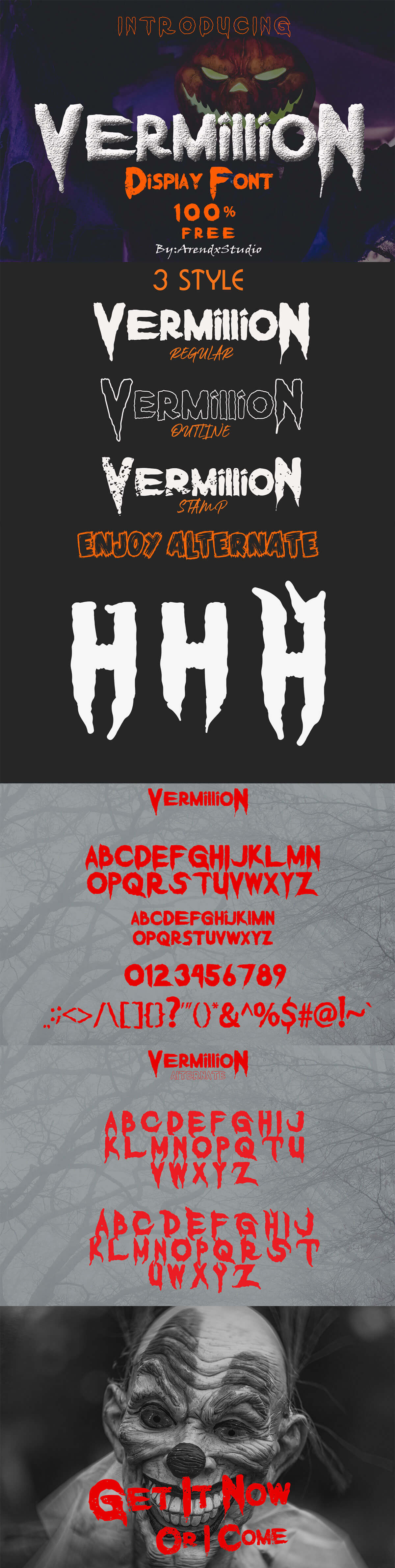 Free Vermillion Display Font