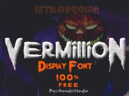 Free Vermillion Display Font