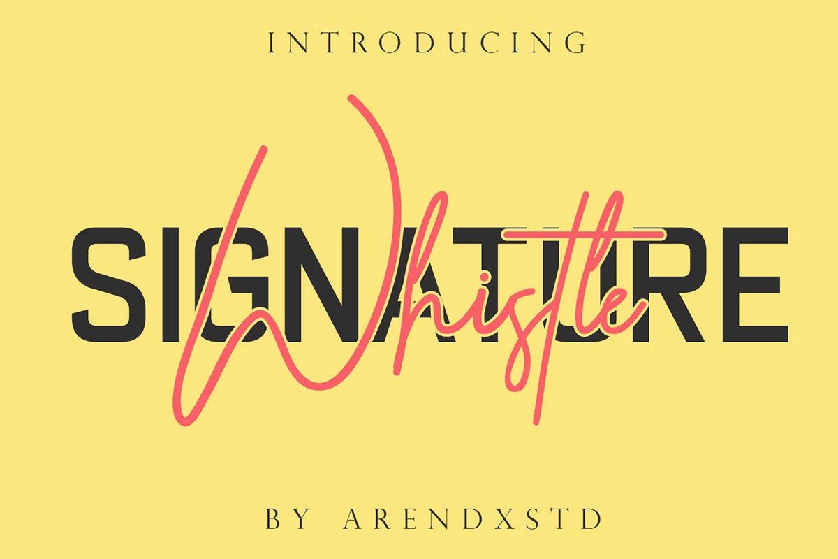Free Whistle Signature Font