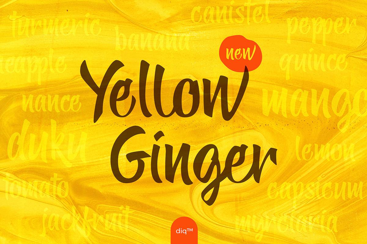 Free Yellow Ginger Script Font