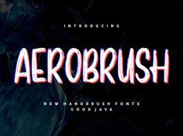Free Aerobrush Handbrush Font
