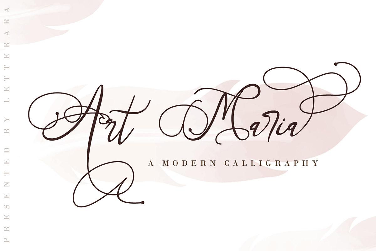 Free Art Maria Modern Calligraphy Font