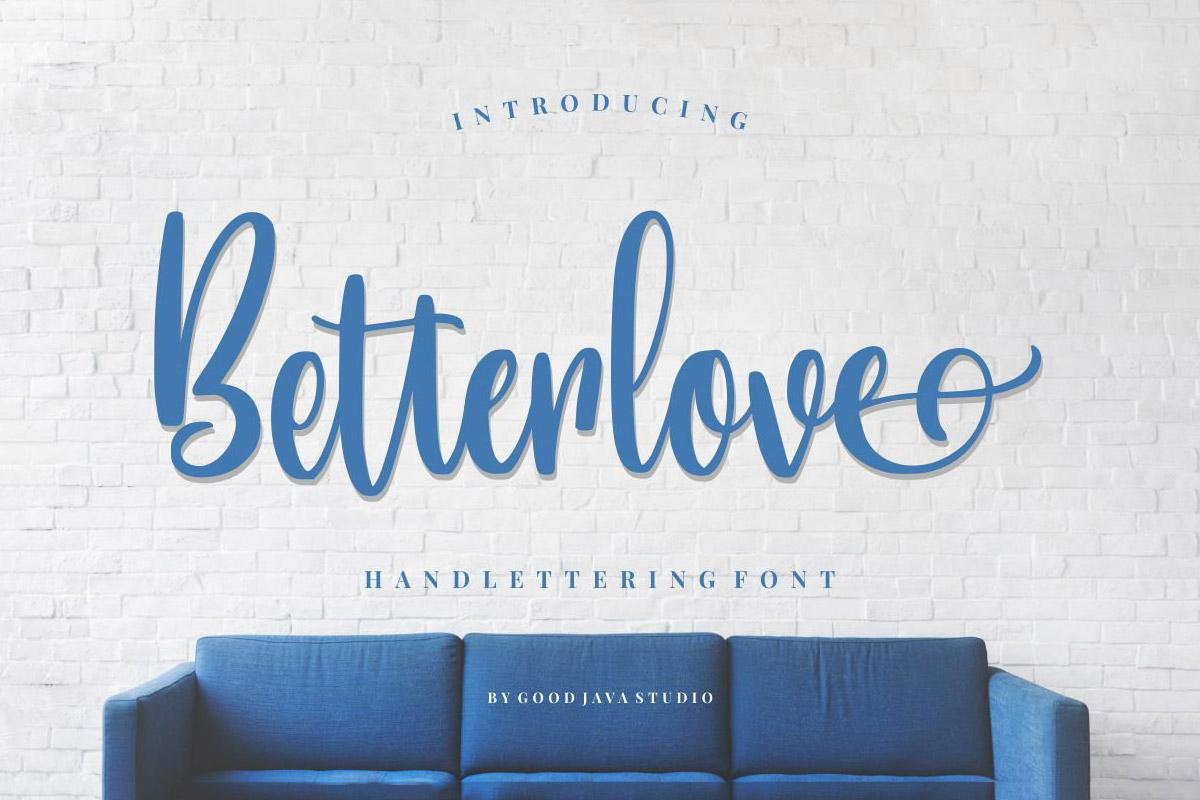 Free Betterlove Script Font