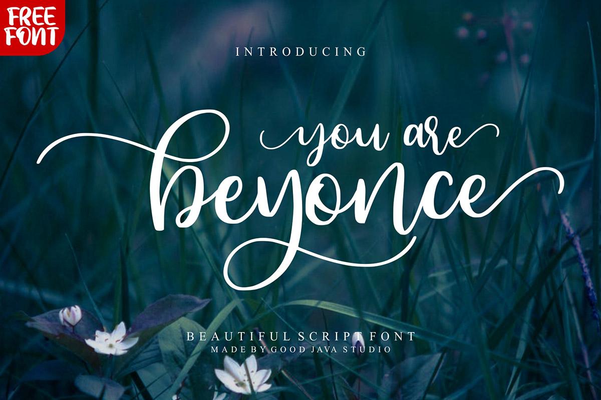 Free Beyonce Script Font