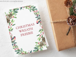 Free Christmas Watercolor Wreath