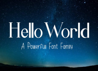 Free Hello World Display Font Family