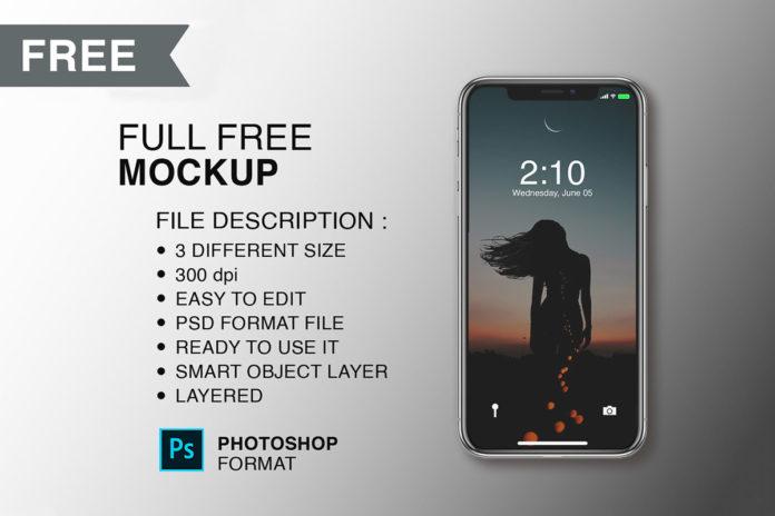Free Iphone X Modern Mockup