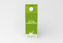 Free Juice Milk Packaging Mockup