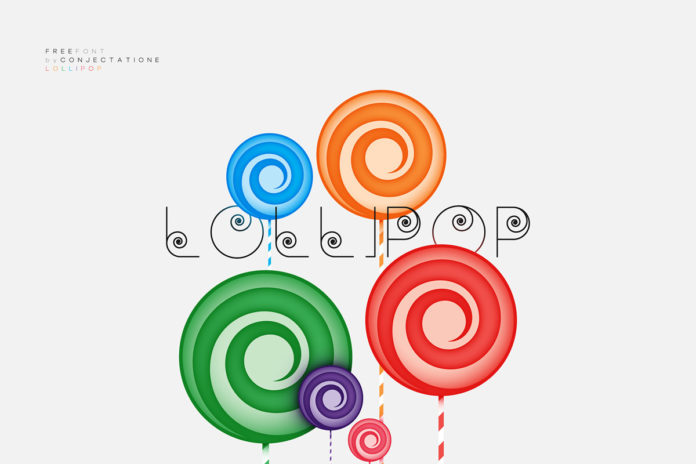 Free Lollipop Geometric Font
