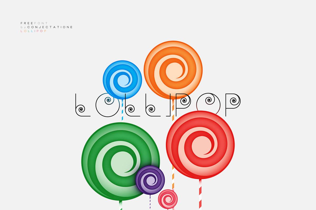 Free Lollipop Geometric Font