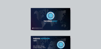 Free Modern Business Card Mockup
