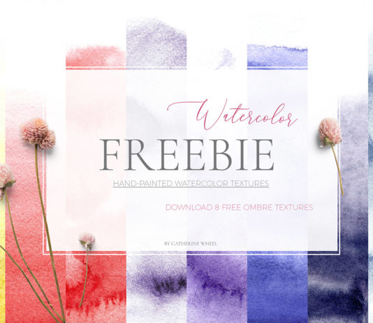 Free Ombre Handpainted Watercolor Textures