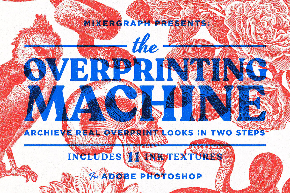 Free Overprinting Machine PSD Template