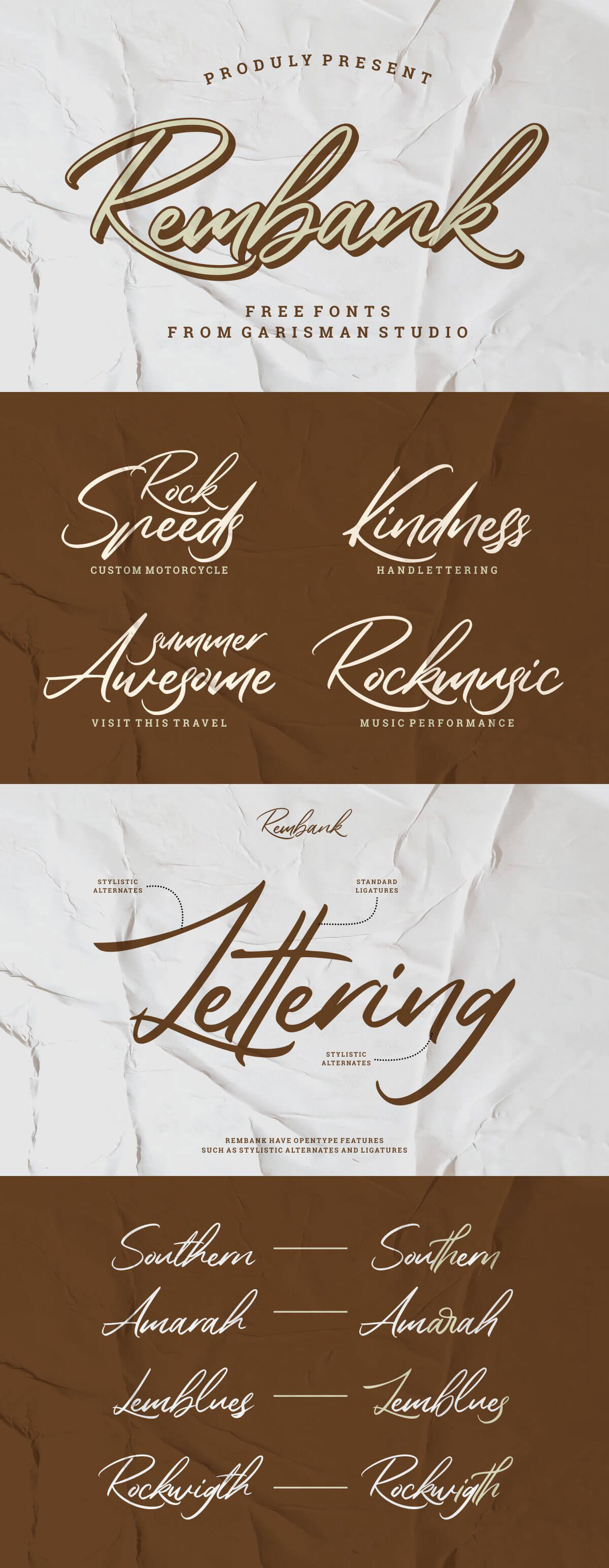 Free Rembank Script Font