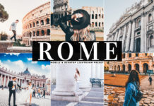 Free Rome Lightroom Preset