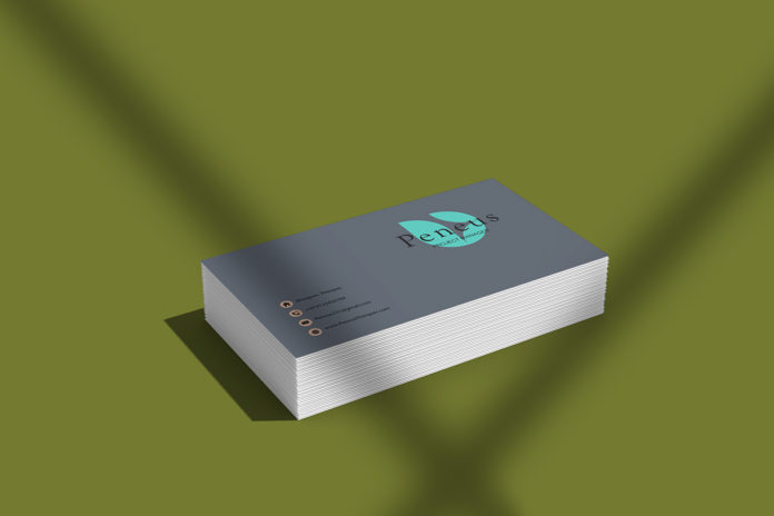 Free Stylish Business Card Mockup