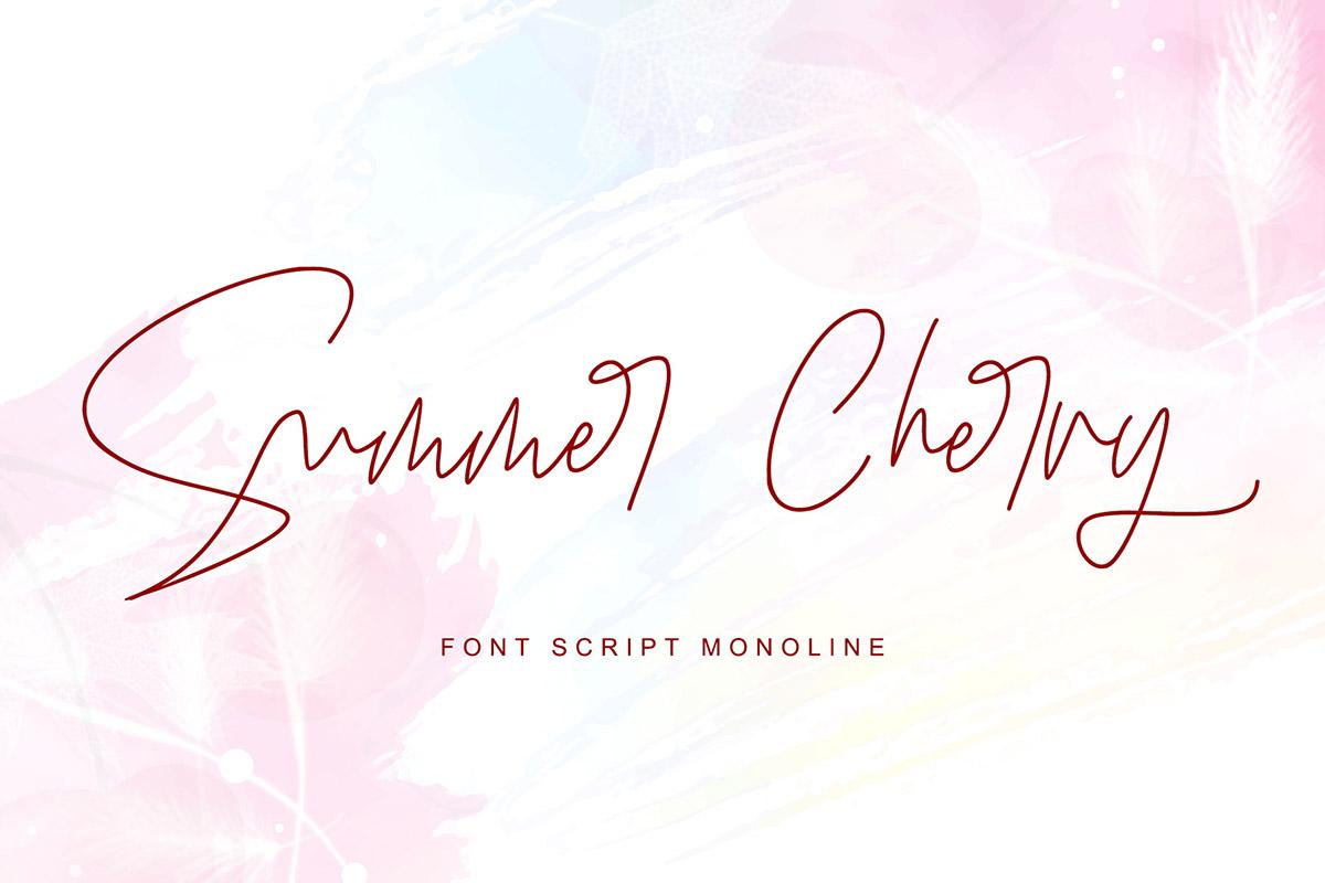 Free Summer Cherry Script Font