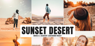 Free Sunset Desert Lightroom Preset