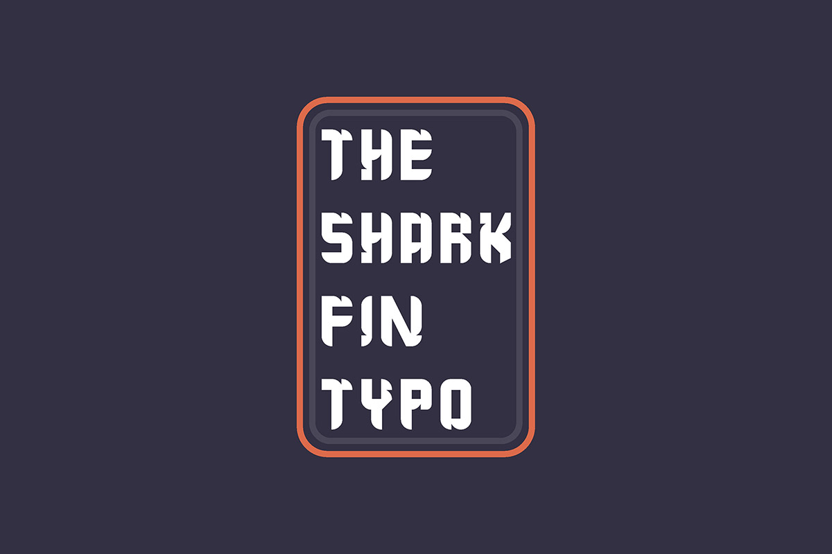 Free The Shark Fin Typo Sans Serif Font