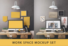 Free Workspace Mockup Set