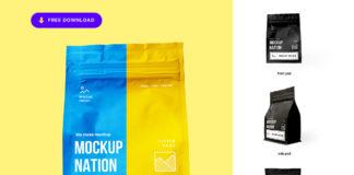 Free Zipper Bag Mockup