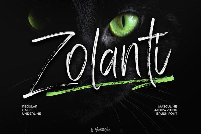 Free Zolanti Handwritten Brush Font