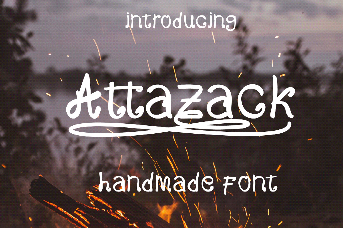 Free Attazack Handmade Font