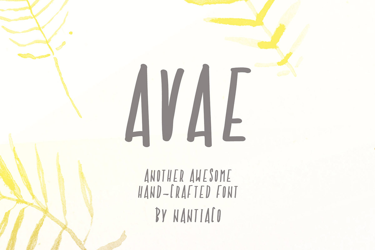 Free Avae Handcrafted Font