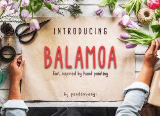 Free Balamoa Hand Painted Font