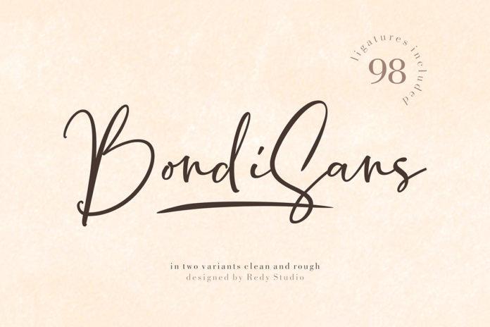 Free BondiSans Script Font