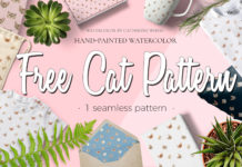 Free Cat Watercolor Pattern