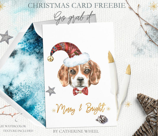 Free Christmas Dog Card