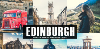 Free Edinburgh Lightroom Preset