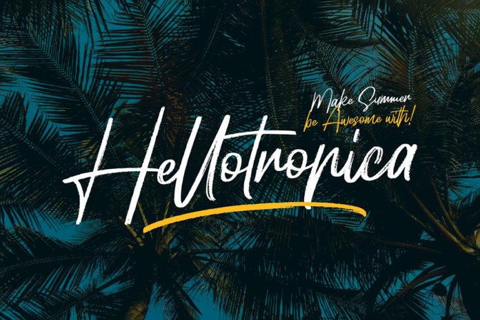 Free Hellotropica Handbrush Font