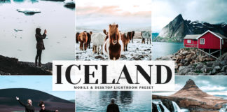 Free Iceland Lightroom Preset
