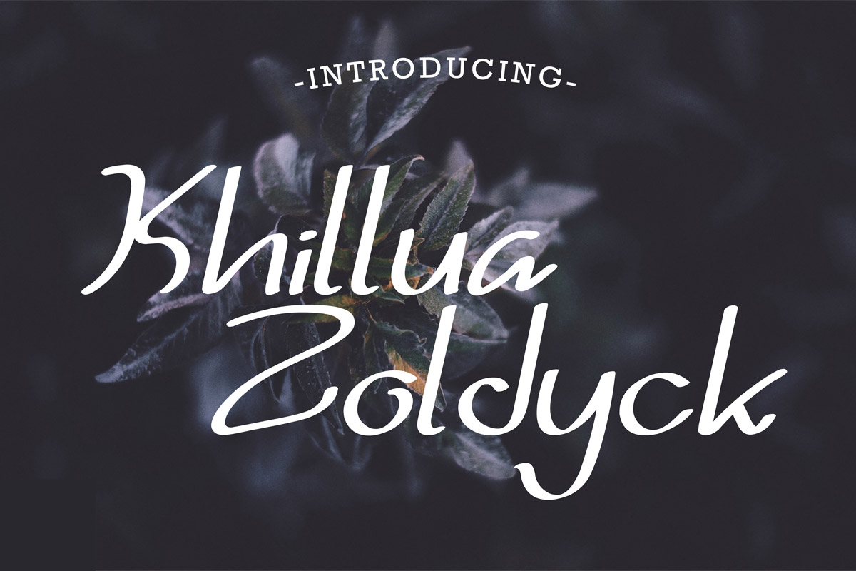Free Khillua Zoldyck Handmade Font