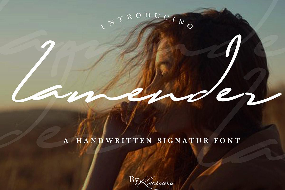 Free Lamender Script Font