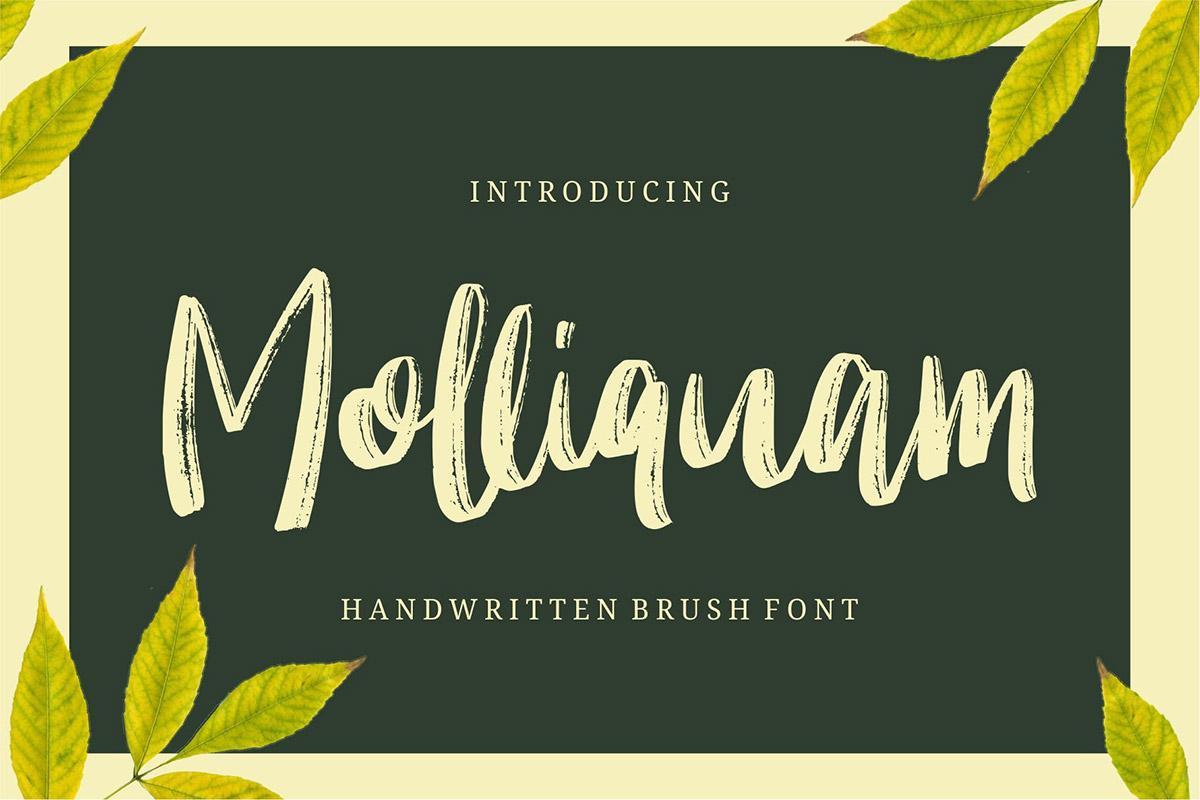 Free Molliquam Handwritten Brush Font
