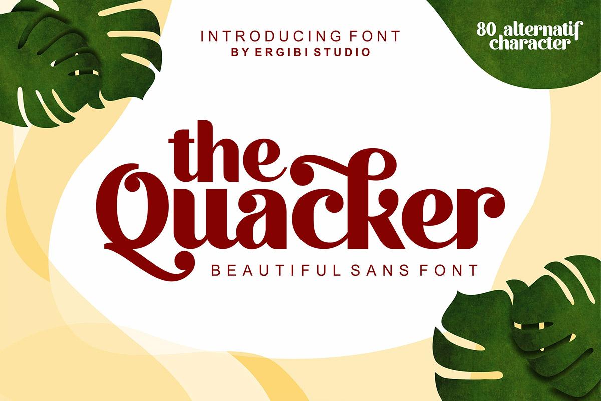 Free Quacker Sans Serif Font