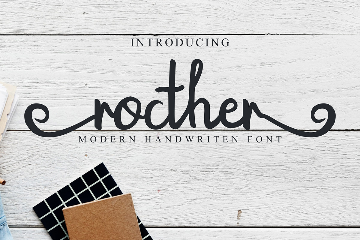 Free Rocther Script Font