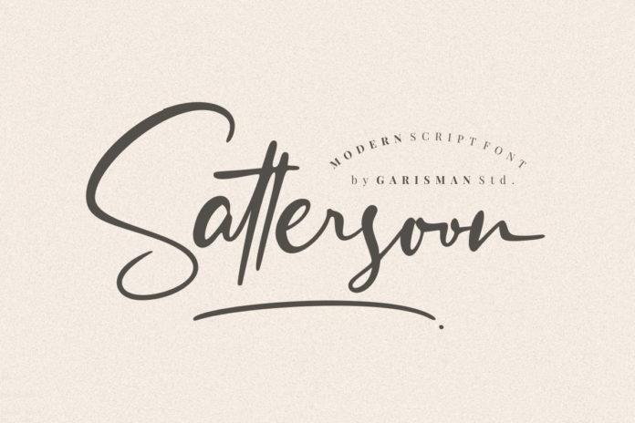 Free Sattersoon Script Font