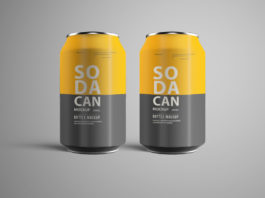 Free Soda Can PSD Mockup Ver. 1