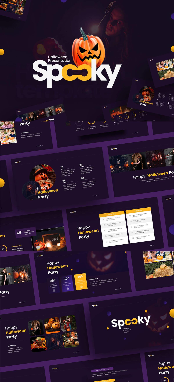 Free Spooky Halloween Powerpoint Template