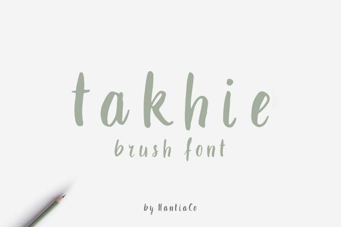 Free Takhie Brush Font