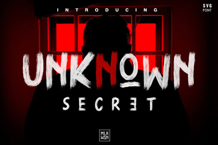 Free Unknown Secret Brush Font