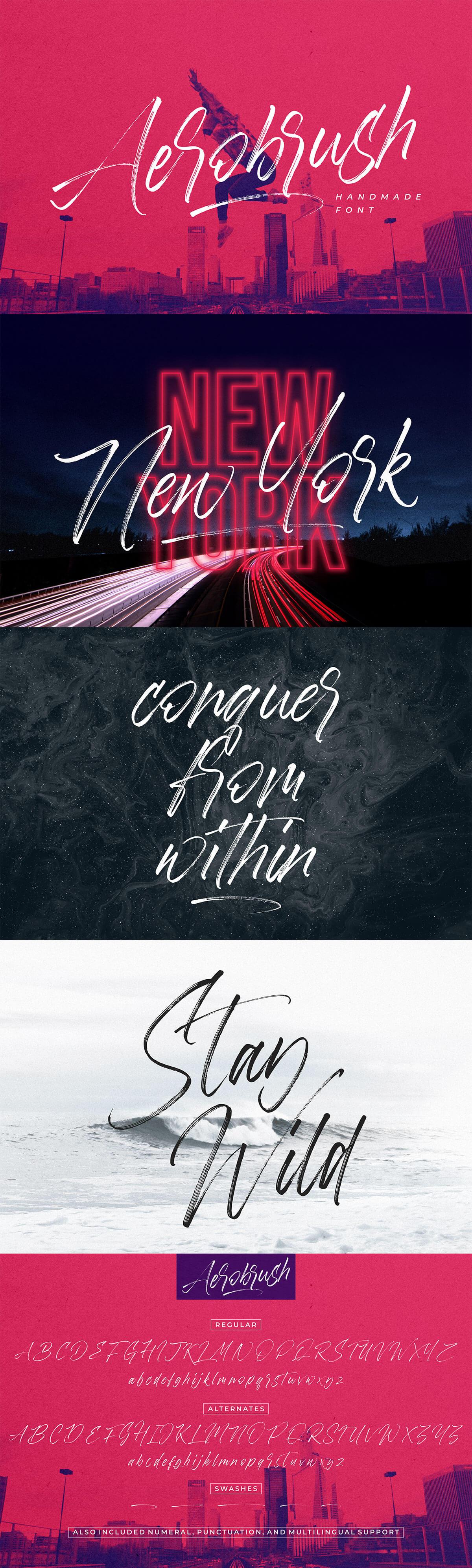 Free Aerobrush Handmade Font