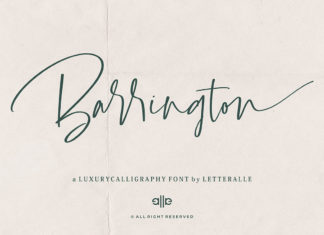 Free Barrington Calligraphy Font