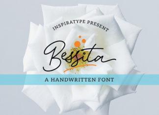 Free Bessita Handwriting Script Font