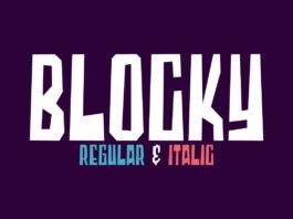 Free Blocky Display Font