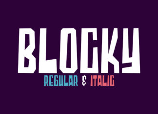 Free Blocky Display Font